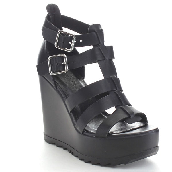 Wild Diva ELLEN-01 Women's Gladiator Wedge Sandal
