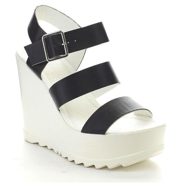 Wild Diva ELLEN-04 Women's Platform Lug Sole Sandals