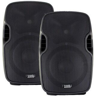 Acoustic Audio Aa12ub Powered 1800 Watts 12-inch Bluetooth Speaker Pair 2 Way Usb Mp3 Player Aa12ub-pr