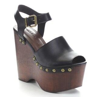 Wild Diva NIKKI-06 Women's Platform Ankle Strap Wedges