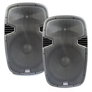 Acoustic Audio Aa152u Powered 15-inch Speaker Pair 1800 Watts 2 Way Usb Mp3 Players Aa152u-pr