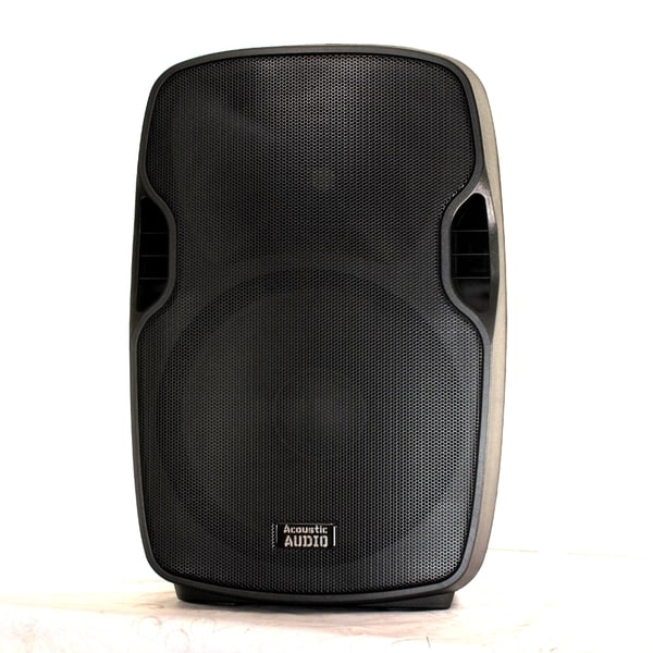 Acoustic Audio Aa15u Powered 1000 Watts 15-inch Speaker 2 Way Usb Mp3 Player