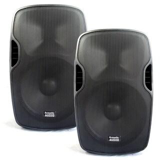 Acoustic Audio Aa15u Powered 15-inch Speaker Pair 2000 Watts 2 Way Usb Mp3 Players Aa15u-pr