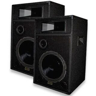 Acoustic Audio Br12 Pa Karaoke Dj 12-inch Speakers 2000 Watts 3 Way Pair Br12-pr