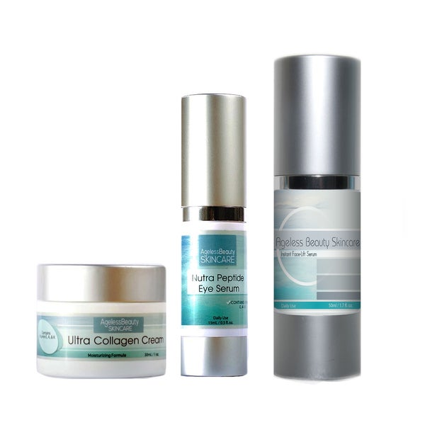 Ageless Beauty Skincare Face Serum, Eye Serum & Ultra Collagen Cream