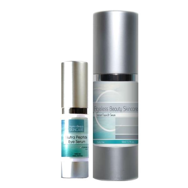 Ageless Beauty Instant Face-Lift Serum & Nutra Peptide Eye Serum
