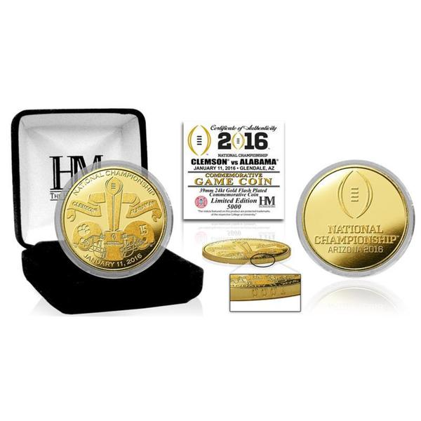 2016 College Football National Championship Game Gold Mint Coin