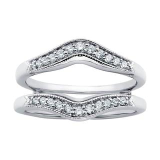 Boston Bay Diamonds 14k White Gold 1/4ct Diamond Bridal Insert (H-I, SI1-SI2)
