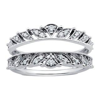 Boston Bay Diamonds 14k White Gold 1/5ct TDW Diamond Bridal Insert (H-I, SI1-SI2)