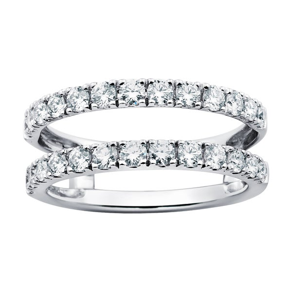 14k White Gold 1ct TDW Diamond Bridal Insert Ring (G-H, SI1-SI2)