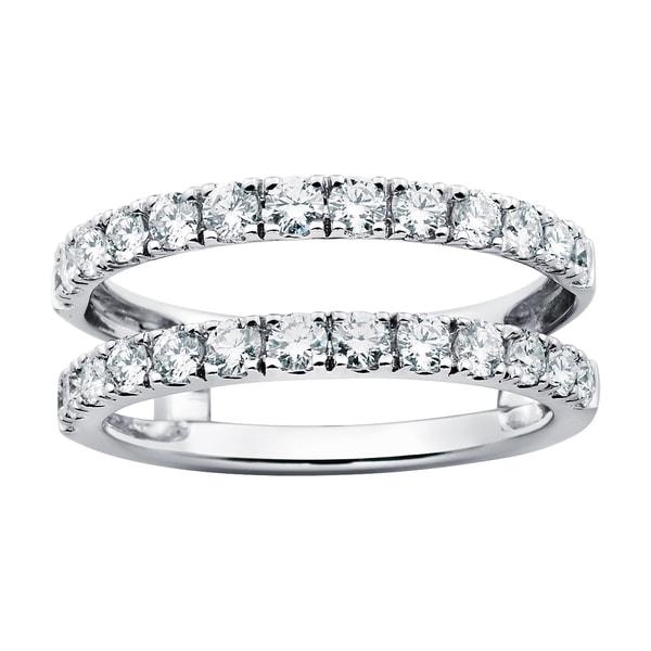 14k White Gold 1ct TDW Diamond Bridal Insert Ring (G-H, SI1-SI2)