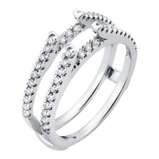 Boston Bay Diamonds 14k White Gold 1/2ct Diamond Bridal Insert (H-I, SI1-SI2)