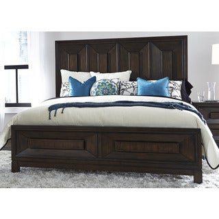 Midtown Coffee Bean Contemporary Panel Bed