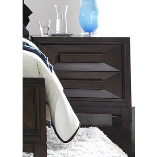Midtown Coffee Bean Contemporary 2-Drawer Nightstand
