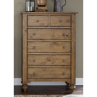 Southern Pines II Vintage Light Pine 5-Drawer Chest