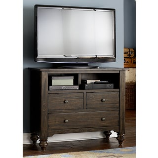 Southern Pines Bark 3-Drawer Media Chest