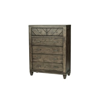 Modern Country Harvest Brown 6-Drawer Chest