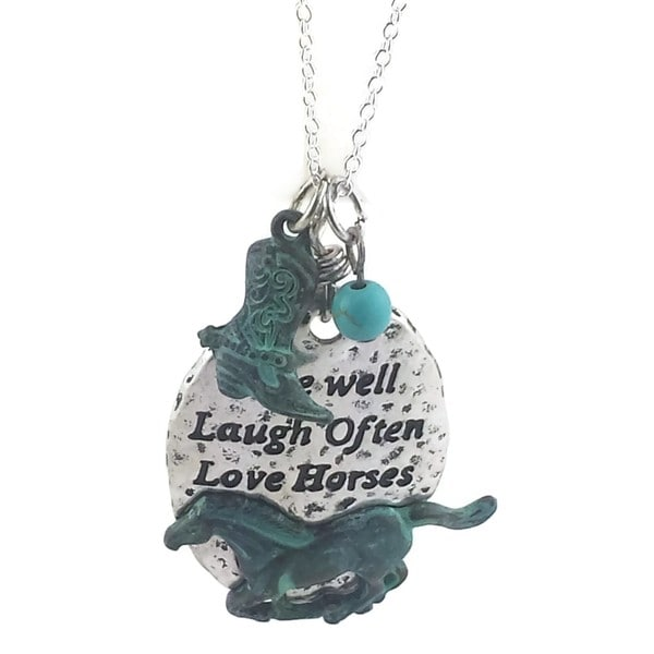 Mama Designs Handmade Western Style Patina Sterling Silver Necklace