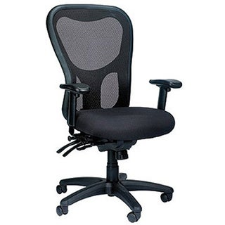 Tempur-Pedic Ergonomic Mesh Black High-back Multi-function Office Chair with Seat Slider