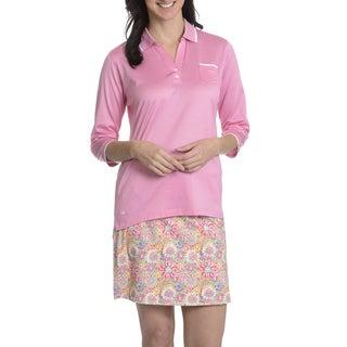 Peter Millar Women's 3/4 Sleeve 1 Pocket Polo