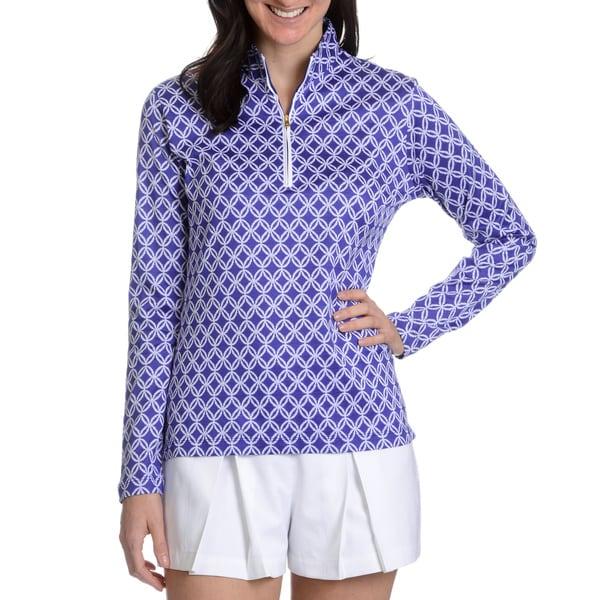 Peter Millar Women's Mariana Print Half Zip Pullover Top