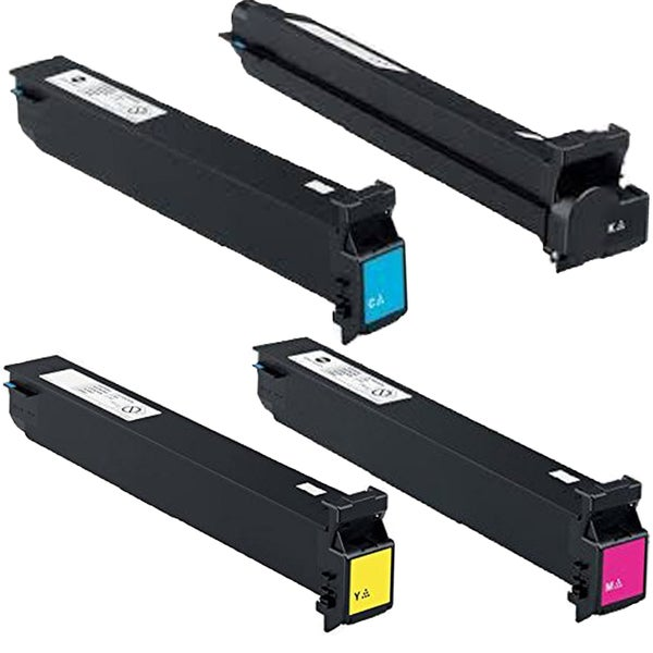 4PK Compatible TN613K C M Y Laser Toner Cartridge For Konica-Minolta BizHub 452 552 652 (Pack of 4)
