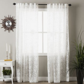 Floral Sweet Flower Burnout Curtain Panel