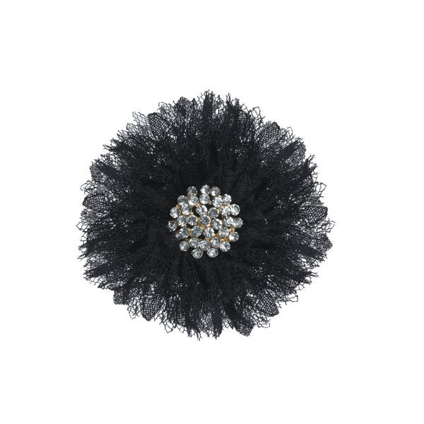 Rhinestone Center Chiffon Flower Hair Clips and Brooch Fascinator (Pack of 2)