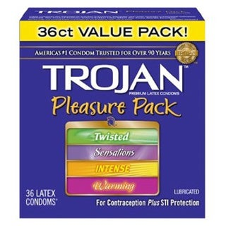 Trojan Condom Pleasure Pack Lubricated (Set of 36) 17135174