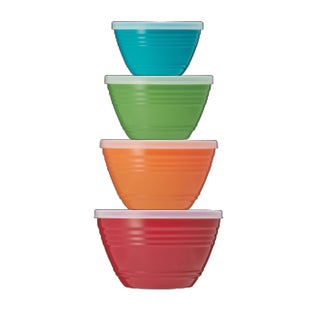 Diamond Home 4 Piece Food-Storage Bowls with Lids Set