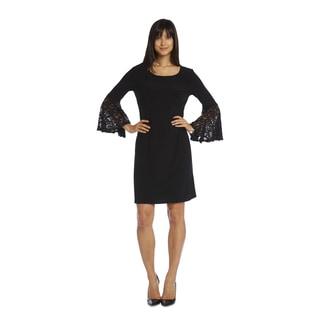 R & M Richards Women's Lace Sleeve Dress