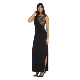 R & M Richards Women's Long Lace Dress