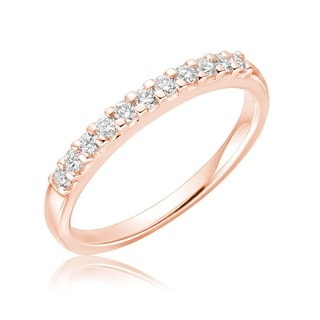 10k Gold 0.15 TDW Diamond Semi-eternity Anniversary Ring (G-H, SI2-I1)