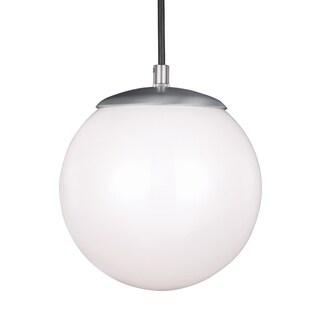 Sea Gull Hanging Globe LED Satin Aluminum Pendant