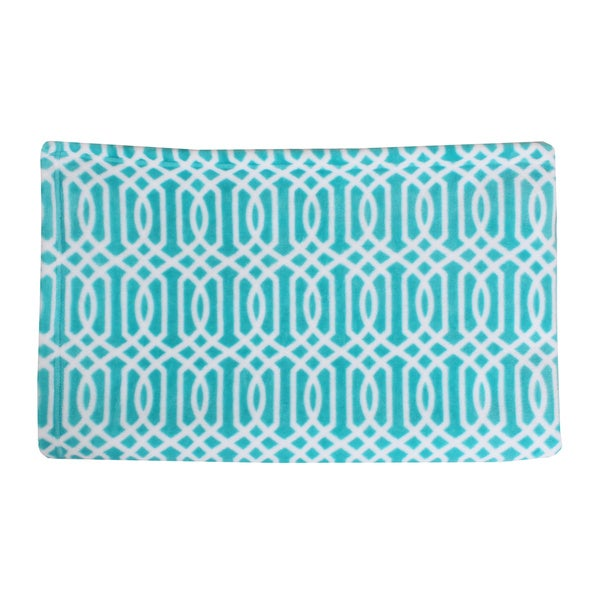 Lattice Print Fleece Throw