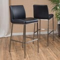 Christopher Knight Home Vasos Bonded Leather Barstool (Set of 2)