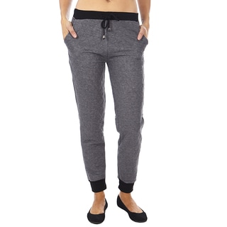 Dinamit Women's Grey Quilted Joggers Pants