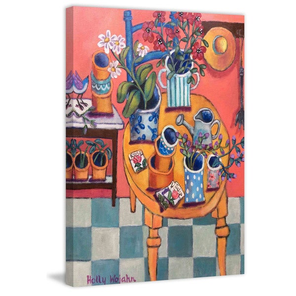 "Marmont Hill - ""A Happy Garden Room"" Painting Print on Canvas"