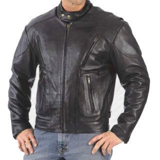 Men's Leather Vented Euro Jacket
