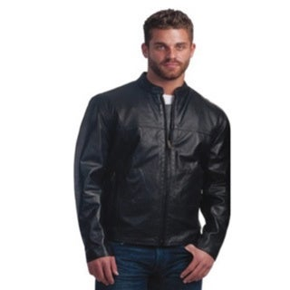 Men's Lightweight Leather Motorcycle Jacket