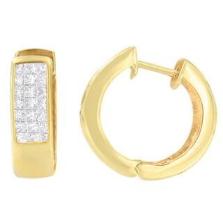 14k Yellow Gold 1 1/8ct TDW Diamond Earrings (H-I,I1-I2)