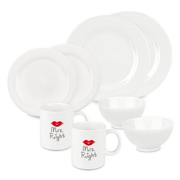 Waechtersbach Mrs and Mrs Right Dinnerware Set