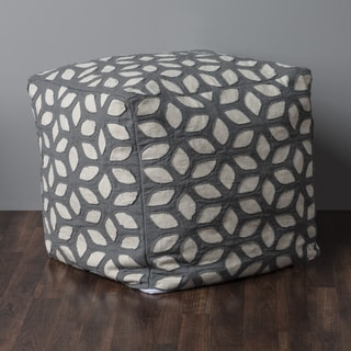 "Rizzy Home 19"" x 19"" Whirl Cube Pouf"