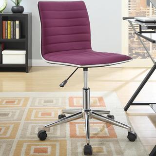 Juliana Adjustable Sleek Purple Swivel Office Conference Chair with Chrome Base