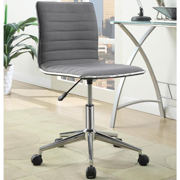 Juliana Adjustable Sleek Grey Swivel Office Conference Chair with Chrome Base 17138618