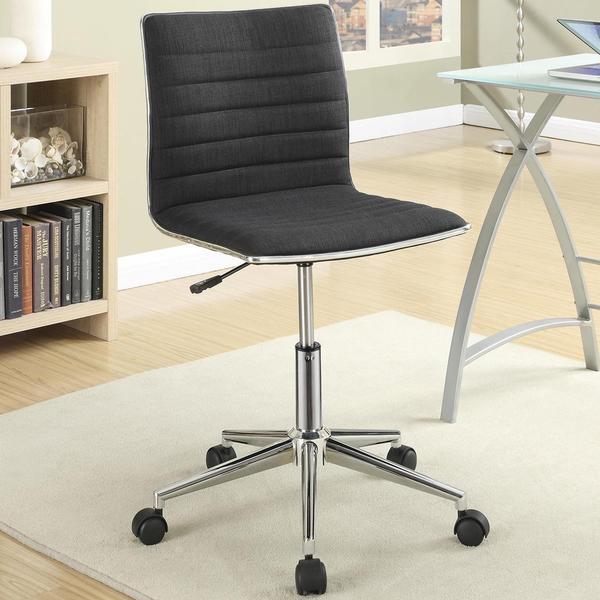 Juliana Adjustable Sleek Black Swivel Office Conference Chair with Chrome Base 17138620