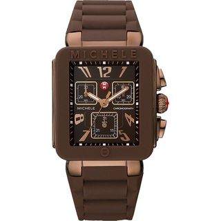 Michele Women's MWW06L000007 'Park Jelly Bean' Chronograph Brown Silicone Watch