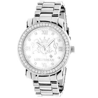 Large Mens Diamond Watches: Luxurman Phantom Vs Diamonds Watch 4.5ct
