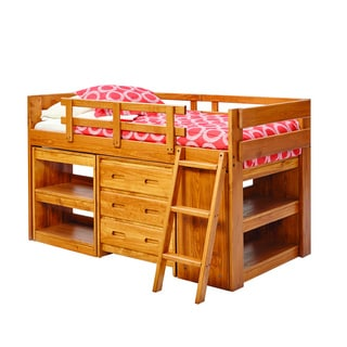 Corliving Madison Single Twin Loft Bed With Desk And