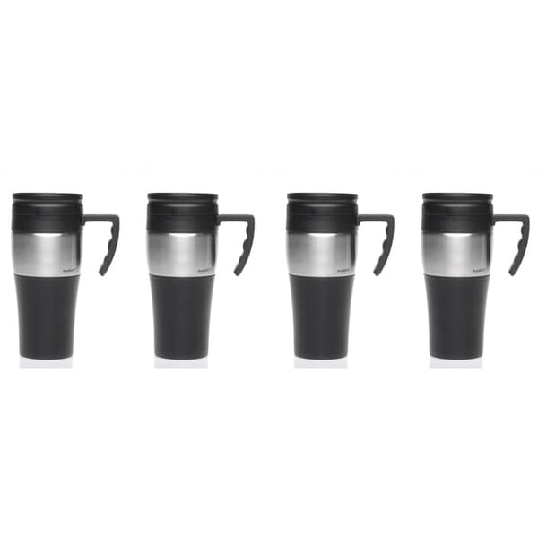 Insulated Stainless Steel Travel Mug (Set of 4) (As Is Item)